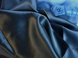 Set of two Navy Blue 100% Mulberry Silk Pillowcase Queen/sta