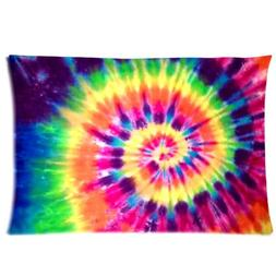 WECE Funny Cheap Pillow Case,Colorful Tie Dye Pillowcase, Re