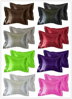 Aiking Home Vibrant Bridal Satin Pillow Cases , Multi-color