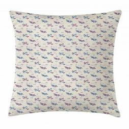 Airplane Throw Pillow Cases Cushion Covers by Ambesonne Home