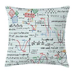 Ambesonne Mathematics Classroom Decor Throw Pillow Cushion C