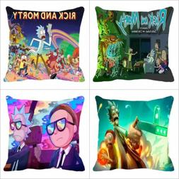 American Comedy sci-fi Anime Rick and Morty 18 Inch Pillow C