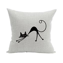 Nunubee Animal Cotton Linen Home Decorative Throw Pillow Cas