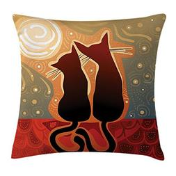 HATS NEW Animal Throw Pillow Cushion Cover, Female and Male