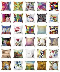 Art Throw Pillow Cases Cushion Covers Home Decor 8 Sizes by