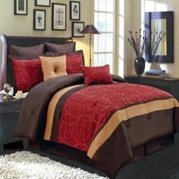 atlantis red king luxury comforter