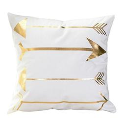 AutumnFall 2018 Gold Foil Printing Sofa Bed Home Decor Pillo