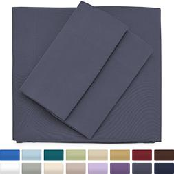 Premium Bamboo Bed Sheets - King Size, Grey Sheet Set - Deep