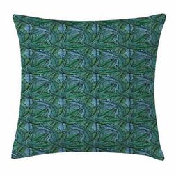 Banana Leaf Throw Pillow Cases Cushion Covers by Ambesonne H