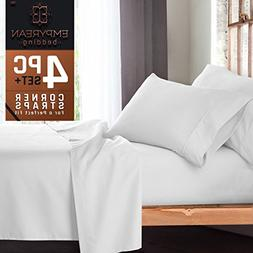 Premium 4-Piece Bed Sheet & Pillow Case Set – Luxurious &