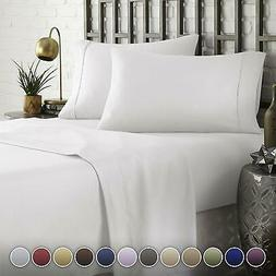 Bed Sheet Pillowcase Set HOTEL Egyptian Bedding Deep Pocket