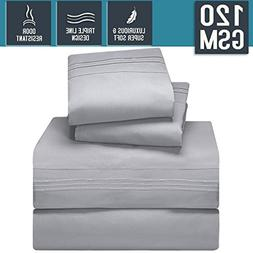 Bed Sheet Set, Queen Size, Silver Gray, Super Soft 120 GSM -