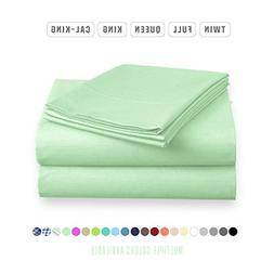 Luxe Bedding Sets - Microfiber King Size Sheets Set 4 Piece,