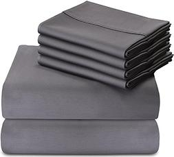 Utopia Bedding 6-Piece Bed Sheet Set  With 4 Pillow Cases -