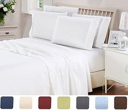 6 Piece Lux Decor Bed Sheets Set ,Hotel Quality Brushed Velv