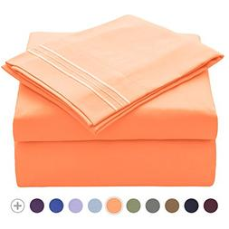 VEEYOO Bedding Sets Full - Soft Brushed Microfiber 1800 Thre