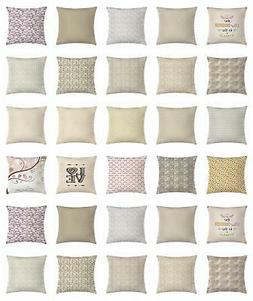 Beige Throw Pillow Cases Cushion Covers by Ambesonne Home Ac