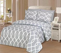Beverly Hills 1800 Series Ultra Soft Printed Sheet Set