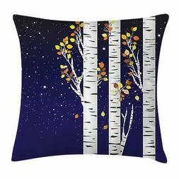 Birch Throw Pillow Cases Cushion Covers by Ambesonne Home De