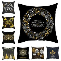 Black Serious Merry Christmas <font><b>Pillow</b></font> <fo