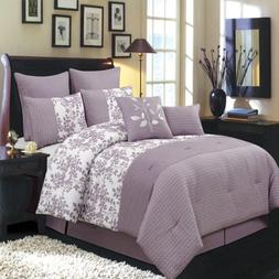 Royal Hotel Bliss Purple and White Cal-King size Luxury 12 p