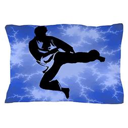 CafePress Blue Martial Arts Karate Standard Size Pillow Case