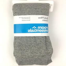 Room Essentials Body Pillow Cover Jersey Gray