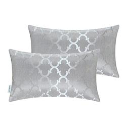 CaliTime Pack of 2 Cushion Covers Bolster Pillow Cases Shell