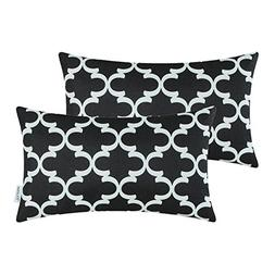 Pack of 2 CaliTime Bolster Pillow Covers Cases for Couch Sof