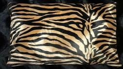 Brown Zebra Pillow Shams Standard, Queen,or King Faux Fur Pi