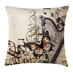 Butterflies Decoration Throw Pillow Cushion Cover by Ambeson