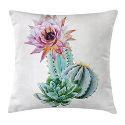 Ambesonne Cactus Throw Pillow Cushion Cover, Cactus Spikes F