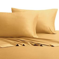 California King Gold Silky Soft bed sheets 100% Rayon from B