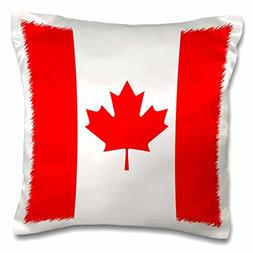 3dRose Canadian Flag, Pillow Case, 16 by 16-inch