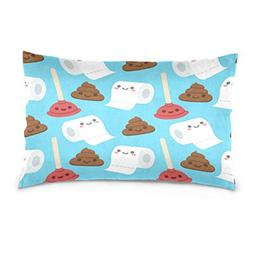 ALAZA Cartoon Poop Plunger Toilet Paper Face Emoji Cotton Li