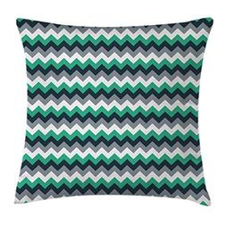 Ambesonne Chevron Throw Pillow Cushion Cover, Zig Zag Symmet