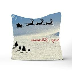 Dolores Joule Christmas Card Cushion Shams Cotton Pillow Cov
