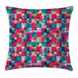 Colorful Shapes Throw Pillow Cases Cushion Covers Home Decor