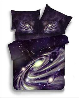 Comforter Cover Set 3D Galaxy Sky Cosmos Night Pattern Beddi