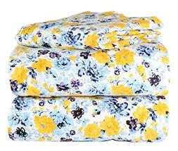 100% Cotton Heavy Weight 4 Piece Solid Flannel Sheet Set in