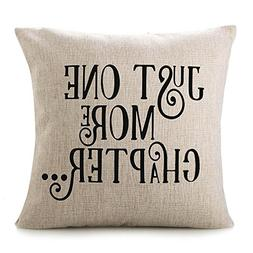 CHICCAT Cotton Linen Throw Pillow Case - JUST ONE More Chapt
