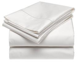100% Cotton Pillowcases - Set of 2 King, Solid White - 300TC