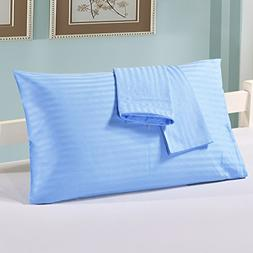 YOUSA 100% Cotton Pillowcases Set of 2 Zippered Pillow Prote