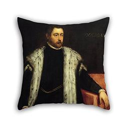 Loveloveu Cushion Cases Of Oil Painting Jacopo Robusti, Tint