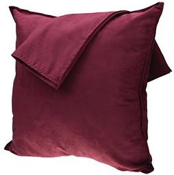 2-Pack Cushion Covers New Design Solid Color Comfortable Fau