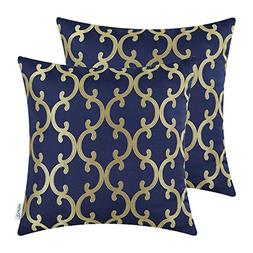 CaliTime Pack of 2 Throw Pillow Covers Cases for Couch Sofa