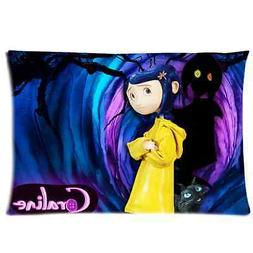 Custom Brand New Coraline Rectangle Pillow Cases 20x30 Inch