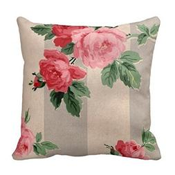 Yeat Custom Decorative Pillow Covers Vintage Cabbage Rose Wa