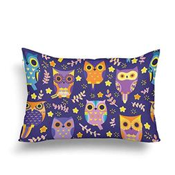 C.Diggs Cute Owls Star Tree Seamless Pattern Pillow Cases Pi