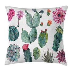 Ambesonne Nature Decor Throw Pillow Cushion Cover, Desert Bo
